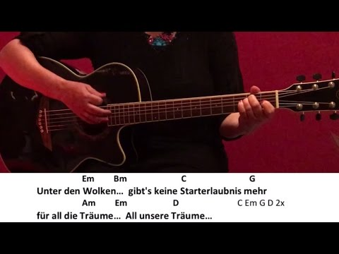 Unter den Wolken - Die Toten Hosen / Guitar/Tutorial/Cover/Chords/Lyrics/easy Version