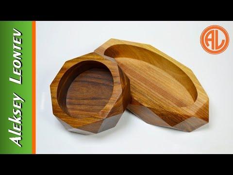 Чаши с огранкой. Деревянная посуда / Making Geometric Wooden Bowls