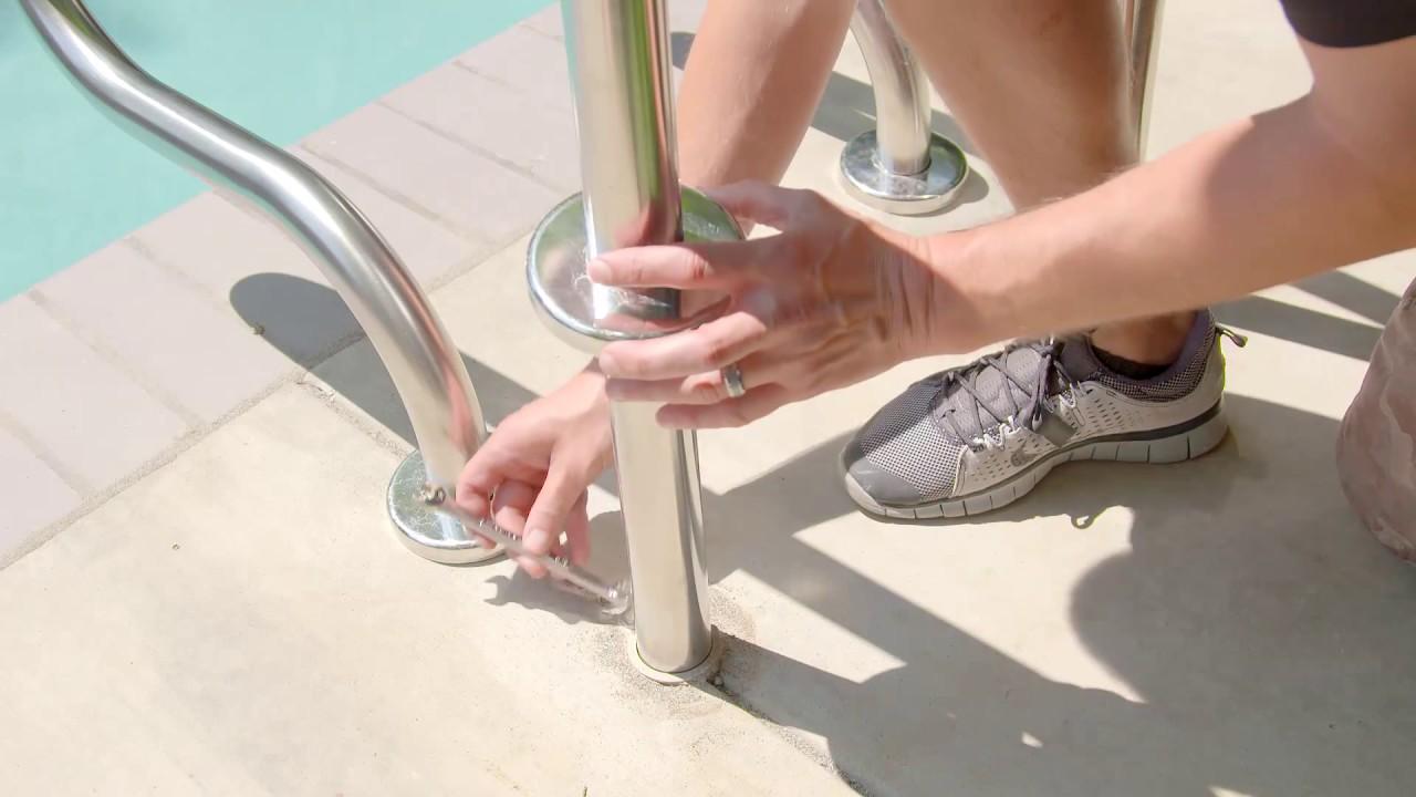 Pool Ladder Rails Meridian Designer Series Pool Railings Swap Youtube