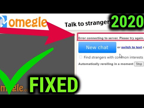 How to fix Omegle  error in connecting to server 2020 [STEP BY STEP]