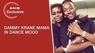 Dammy krane's mum dances happily in church despite son's arrest