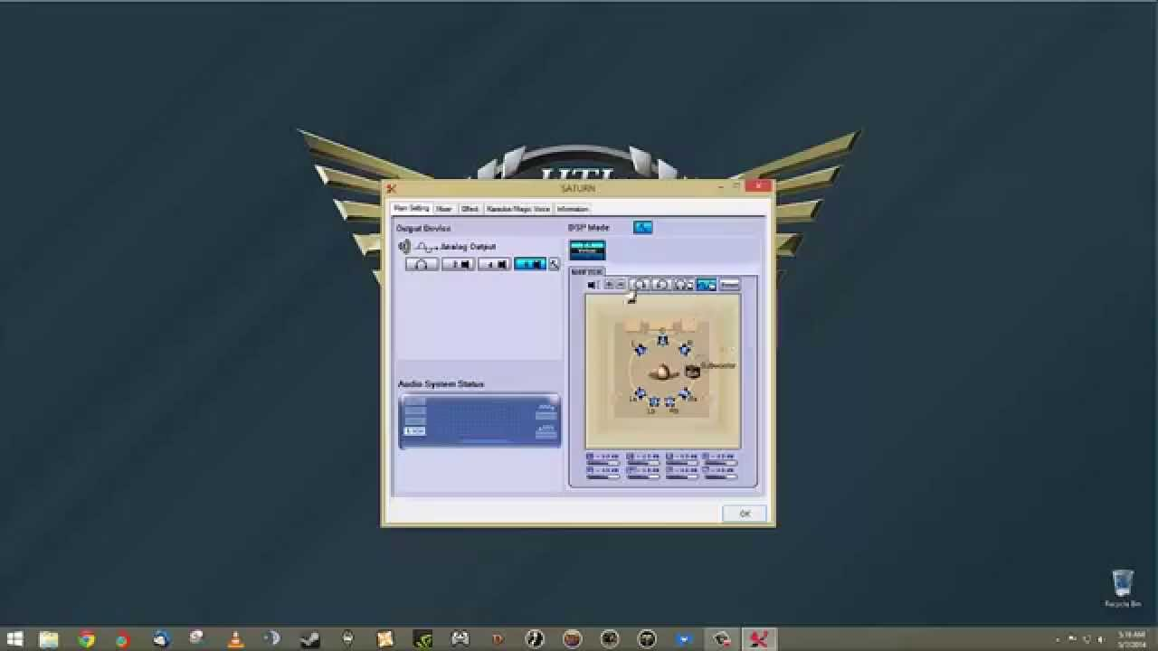 X2 Saturn 5 1 Channel Surround Sound Headset Xear Software Overview