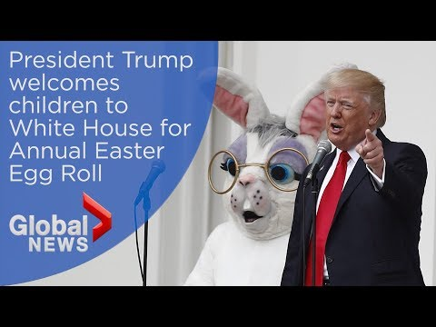 U.S. President Trump, First Lady host Annual Easter Egg Roll