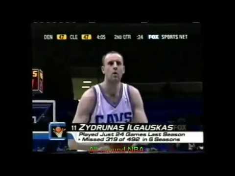 Zydrunas Ilgauskas Highlights Vs. Denver, 2002-03. 29 Points.
