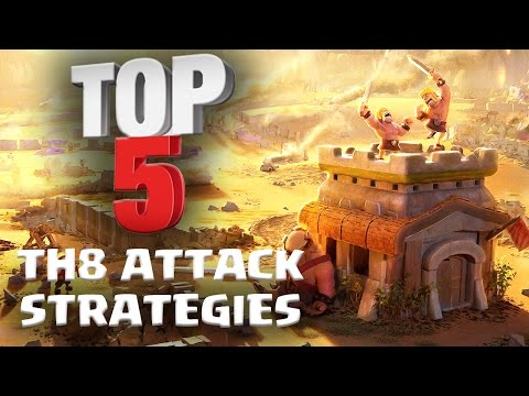 Top 5 BEST TH8 Attack Strategy for 3 Stars in Clan Wars | ft. Reddit Pirates | Clash of Clans