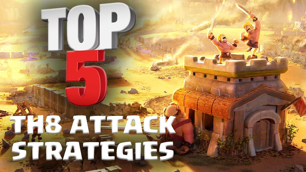 Top 5 BEST TH8 Attack Strategy for 3 Stars in Clan Wars | ft  Reddit  Pirates | Clash of Clans