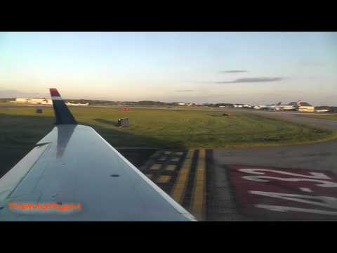 US Airways Taxi and Takeoff Piedmont Triad Intl