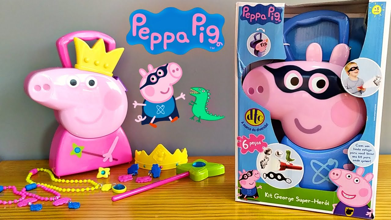 MALETA George 🐷🦖 Várias Surpresas - Peppa Pig