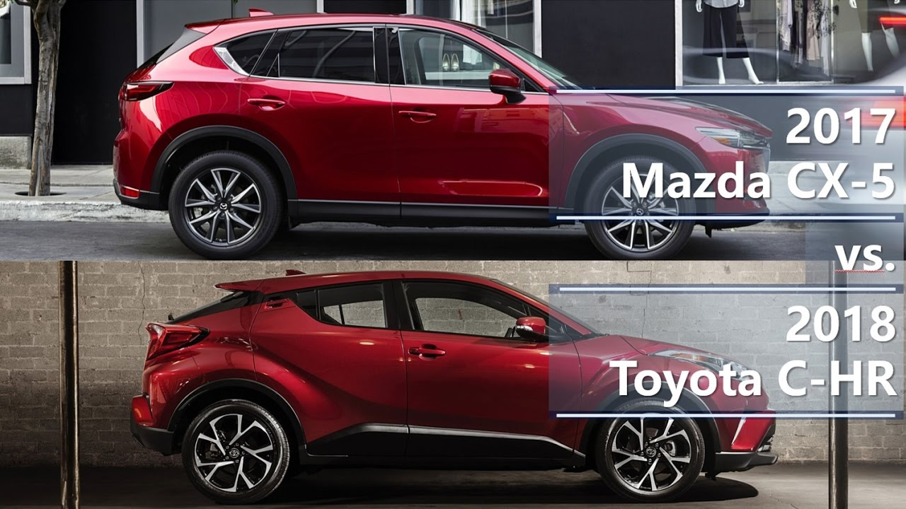 2017 mazda cx 5 vs 2018 toyota c hr technical compari doovi. Black Bedroom Furniture Sets. Home Design Ideas