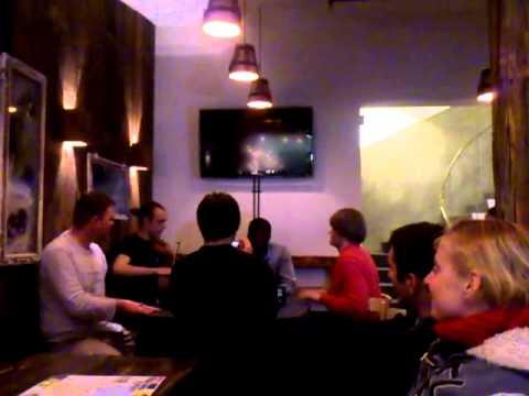 Impromptu jam session at Akureyri Backpackers.