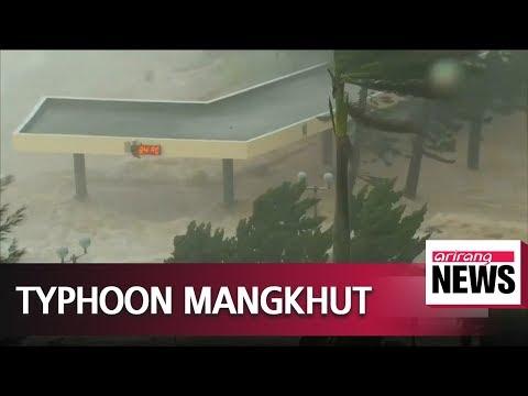 Typhoon Mangkhut rips through China's Guangdong