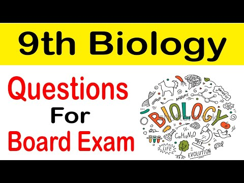 9th Class Biology Important Questions Guess Paper 2019