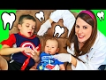 Baby DENTIST IRL Check Up With Dr Sandra McStuffins Funny Family Fail Parody by DisneyCarToys
