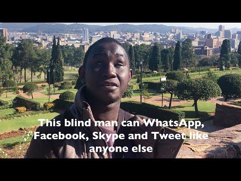 I am blind(disabled) _ I whatsapp, facebook, e mail and skype like anybody else