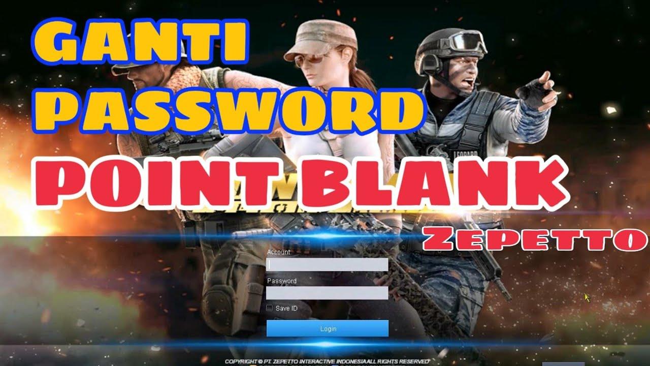 Cara Ganti Password Pb Zepetto Youtube