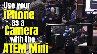 BlackMagic ATEM Mini with the Iphone HDMI adapter