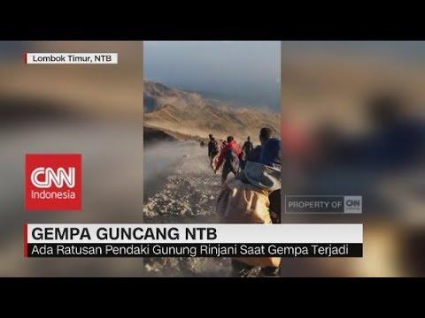 Panik & Berlarian, Ratusan Pendaki Gunung Rinjani Saat Terjadi Gempa di NTB