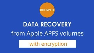 How to recover files from encrypted Apple APFS volumes