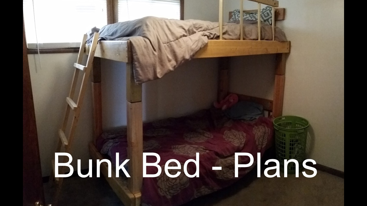 How To Build A Bunk Bed Plans And Cost Youtube