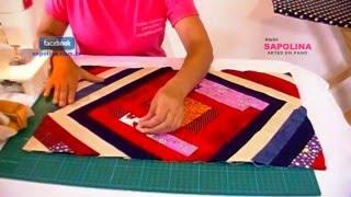 Fazendo tapete com retalhos parte 2