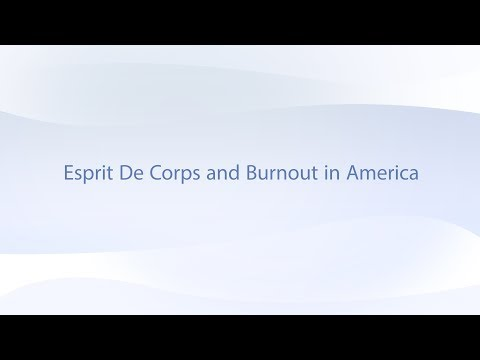 Esprit de Corps - Spirit of the Body