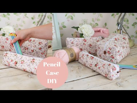 How to sew a zipped pencil case/box pouch. Back to school DIY