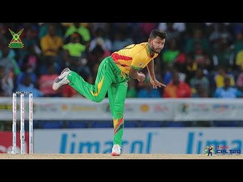 Devendra Bishoo bowls wonder ball | #CPL15