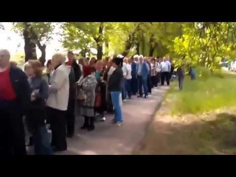 Donetsk. Referendum Queue. 11.05.2014