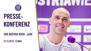 Pressekonferenz vor Austria Wien - LASK