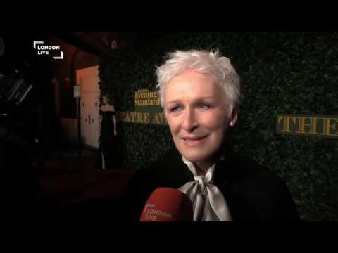 Glenn Close on the red carpet at the Evening Standard Theatre Awards 2016