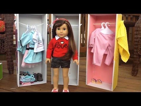 Diy American Girl Doll Wardrobe Old Video Youtube