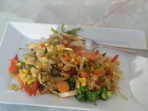 vegetarian dishes stir fry Cabbage & Mix veg Caribbean Recipes