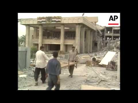 Soldiers Distributing Aid In Basra, Looting, Saddam Statue Pulled Down
