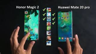 Honor Magic 2 VS Huawei Mate 20 Pro Speed test Game apps