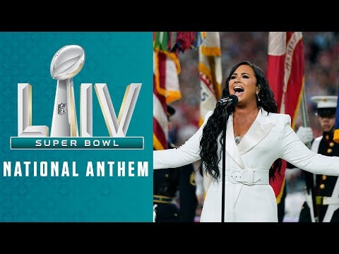 Demi-Lovato-Sings-the-National-Anthem-Super-Bowl-LIV-Pregame