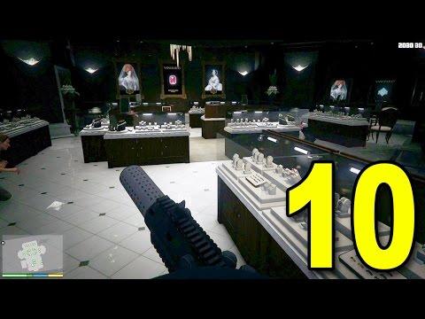 Grand Theft Auto V First Person - Part 10 - Jewelry Store Heist (Walkthrough / Next Gen Gameplay)