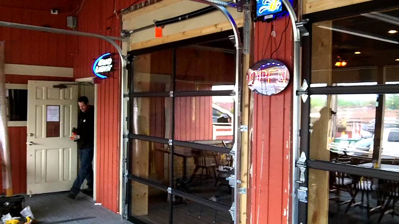 Fullview Aluminum Garage Doors For A Restaurant We Installed Youtube