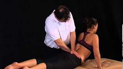 Low Back Pain: McKenzie MDT procedures: lumbar extension in lying with clinician overpressure