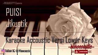 Jikustik Puisi Karaoke Akustik Versi Lower Keys