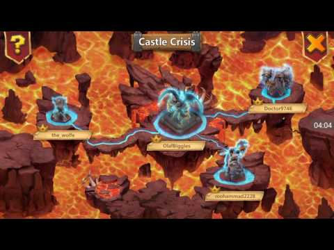 Castle Clash - Castle Crisis Archdemon! Full 3 Minute Runs! Permaslow Is The Way To Go!