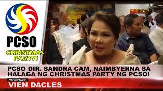 PCSO Dir.Sandra Cam, nagsalita sa halaga ng gastos sa Christmas party