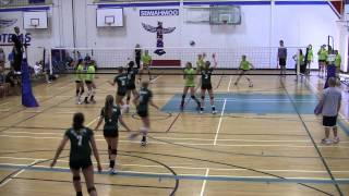 2012 BC Summer Games Indoor Girls Volleyball Semi-Finals - Zone 5 vs Zone 6 (Set 1)