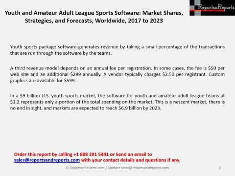 Youth And League Sports Software Market Grow Billion By
