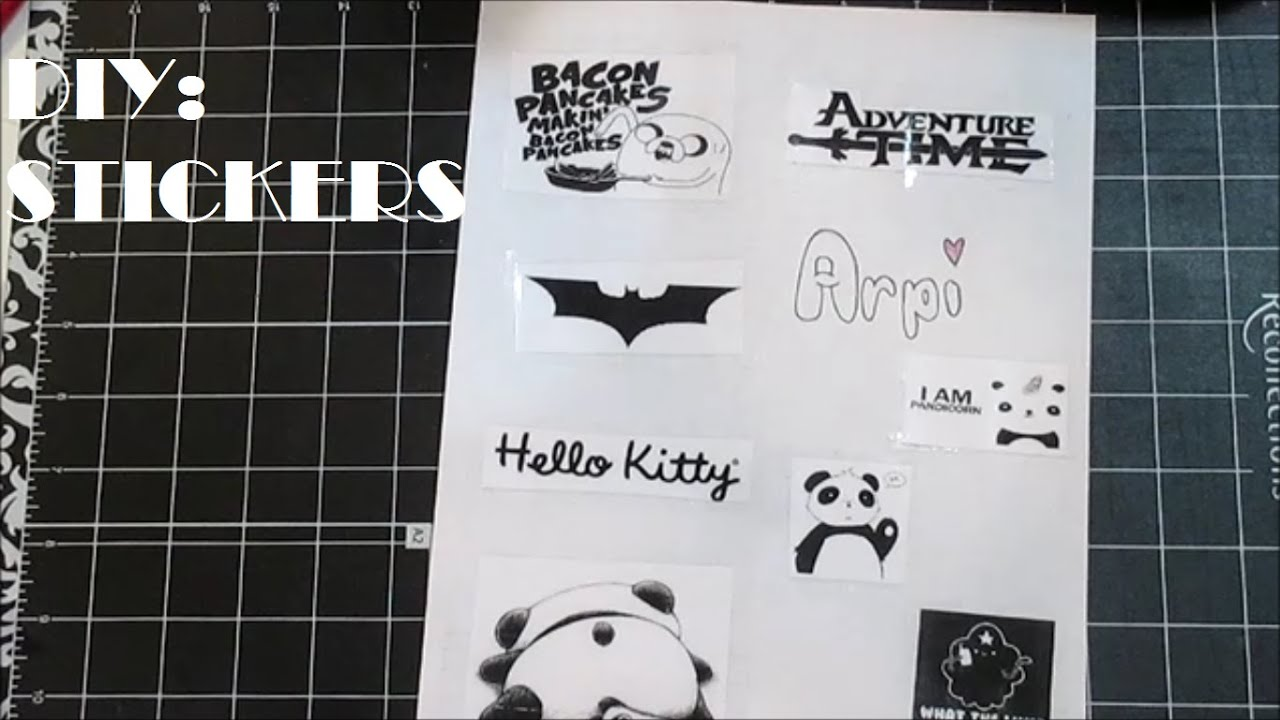 DIY:Stickers(No Sticker Paper)   YouTube