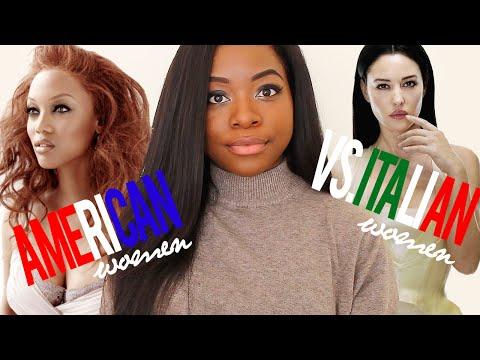 American Women vs Italian le donne americane vs le donne italiane SUB ITA