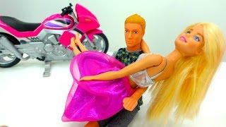 Видео для девочек. Отважный Кен и игры в куклы Барби
