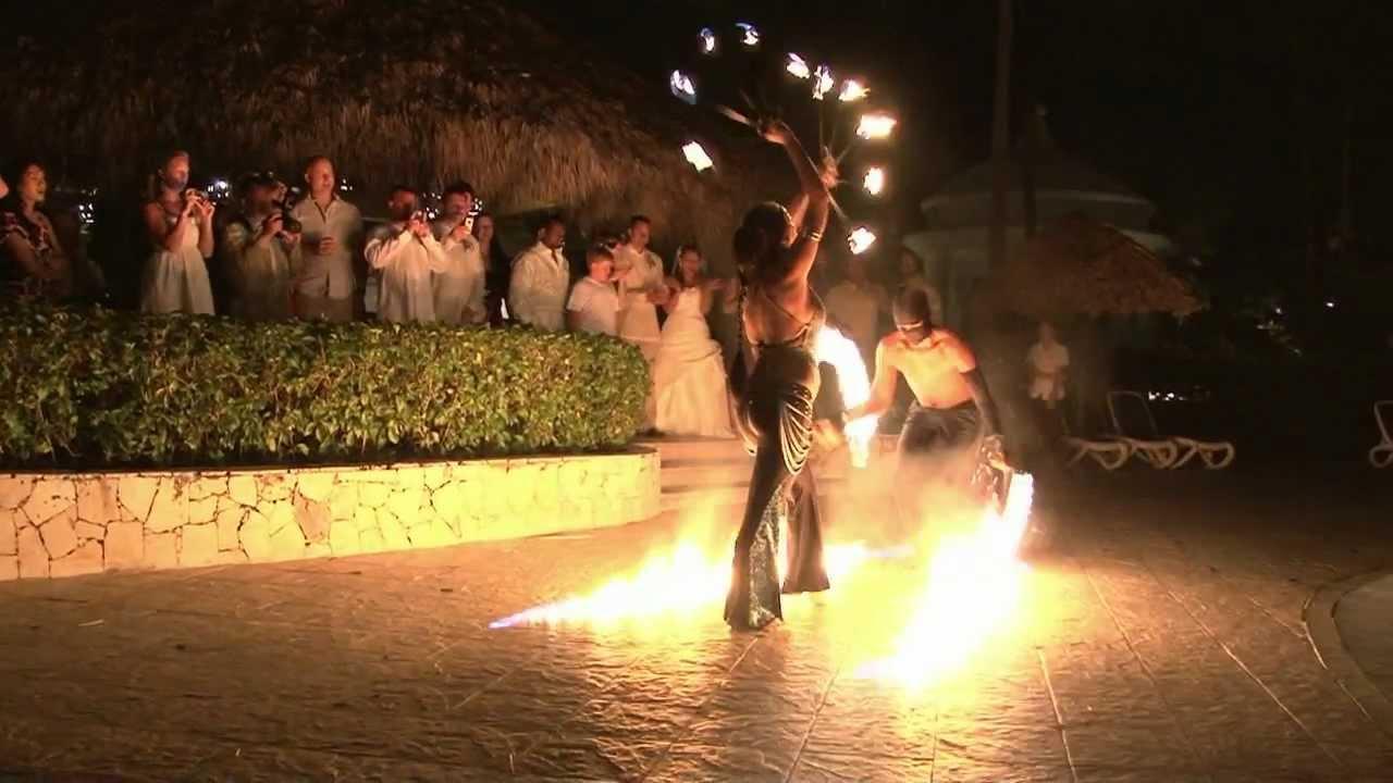 january 28 2012 wedding fire dance majestic colonial punta cana youtube