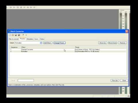 SoundForge - Batch Converter
