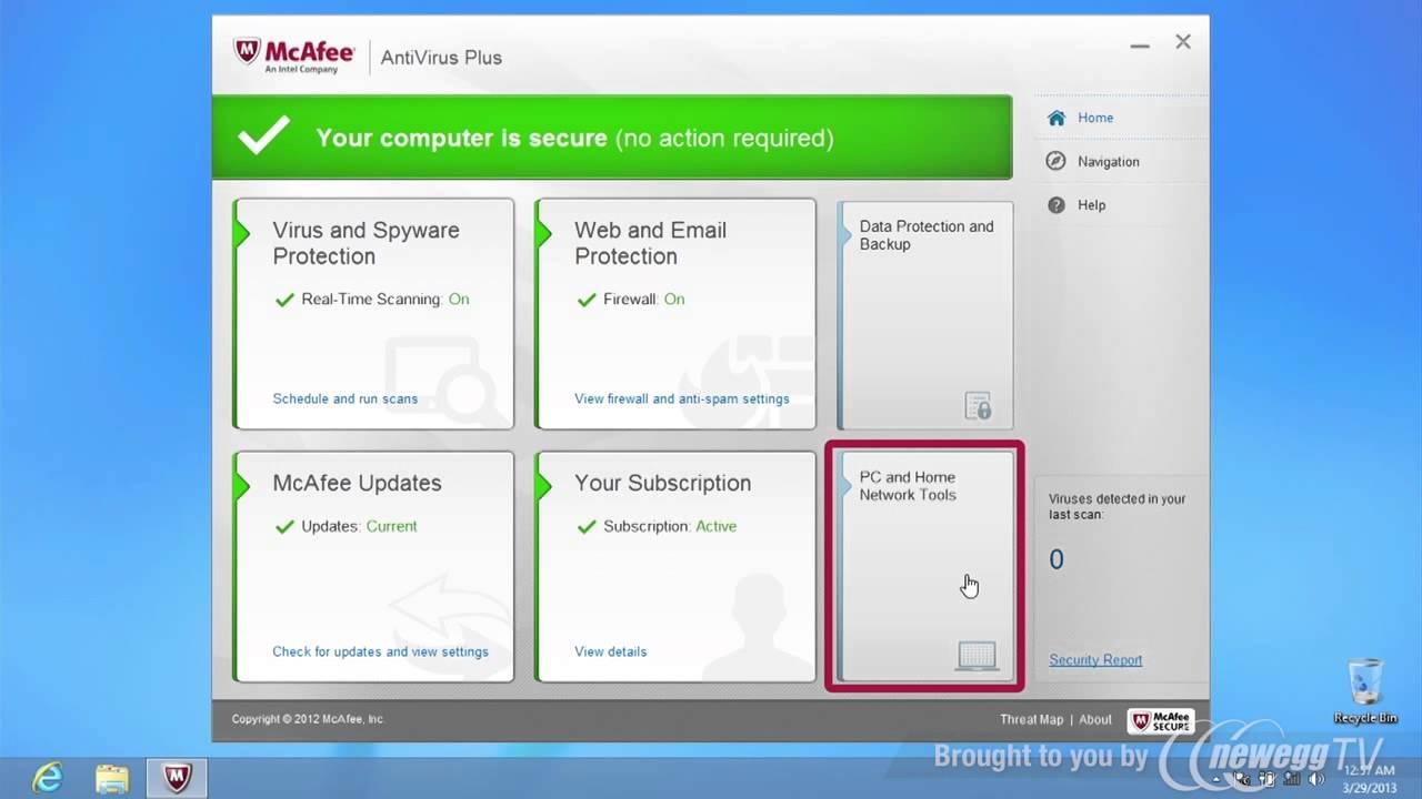 Mcafee antivirus plus 2013 not updating