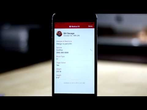 iOS 8 Emergency Medical ID Overview